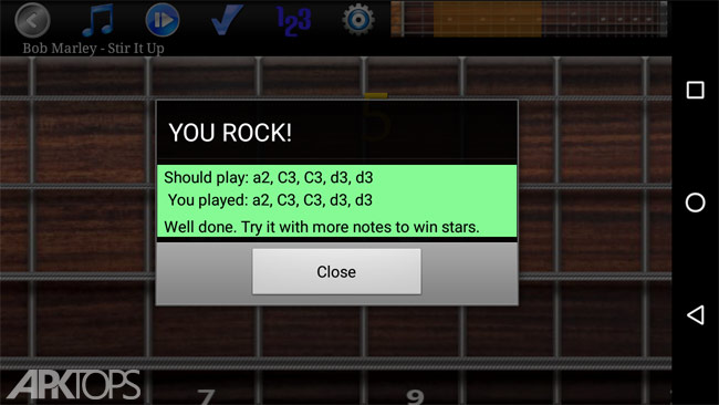 Bass Guitar Tutor Pro v116 Slide Option دانلود برنامه آموزش گیتار برای اندروید