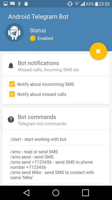 Remote Bot for Telegram Premium v1.9.42 دانلود برنامه کنترل گوشی با تلگرام از راه دور