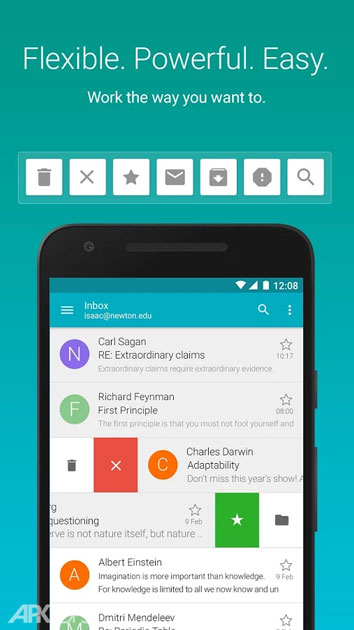 Aqua Mail – email app Pro v1.16.1-1284 Final دانلود مدیریت ایمیل اندروید