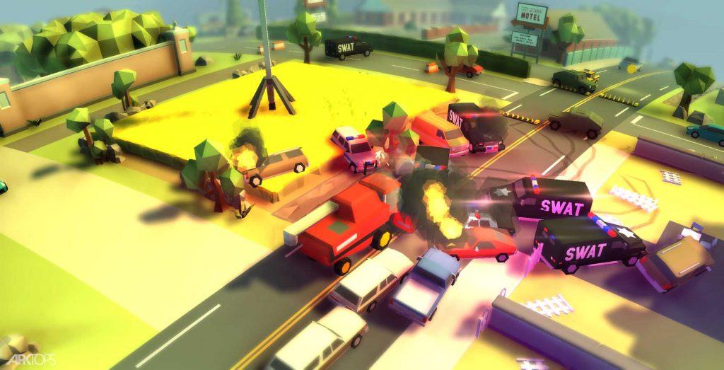 Reckless Getaway 2 v2.1.4 دانلود بازی ماشین سواری در اتوبان + مود