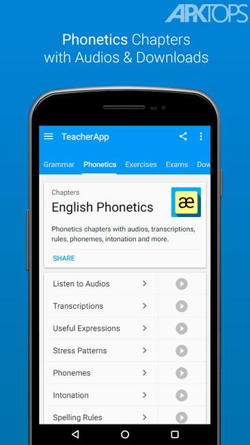 English Grammar & Phonetics v7.2.7 Ad-free دانلود برنامه گرامر و فونوتیک انگلیسی برای اندروید اندروید