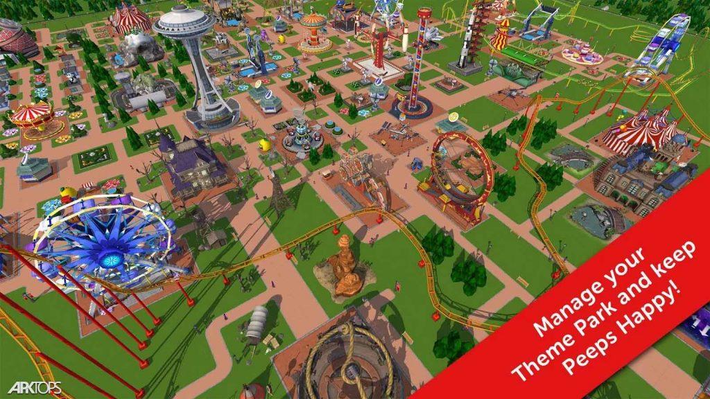 RollerCoaster Tycoon Touch v2.9.0 دانلود بازی پارک بازی برای اندروید
