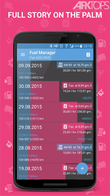 Fuel Manager Pro v24.50 دانلود برنامه مدیریت مصرف سوخت برای گوشی