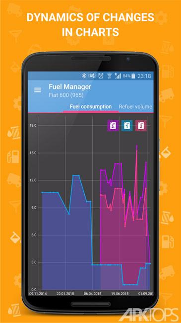 Fuel Manager Pro v24.00 دانلود برنامه مدیریت مصرف سوخت برای گوشی