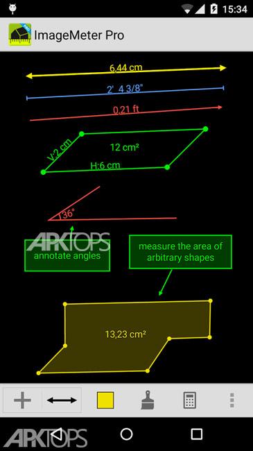 ImageMeter Pro – photo measure v2.21.8 دانلود برنامه ایجاد اندازه بر روی تصاویر در اندروید