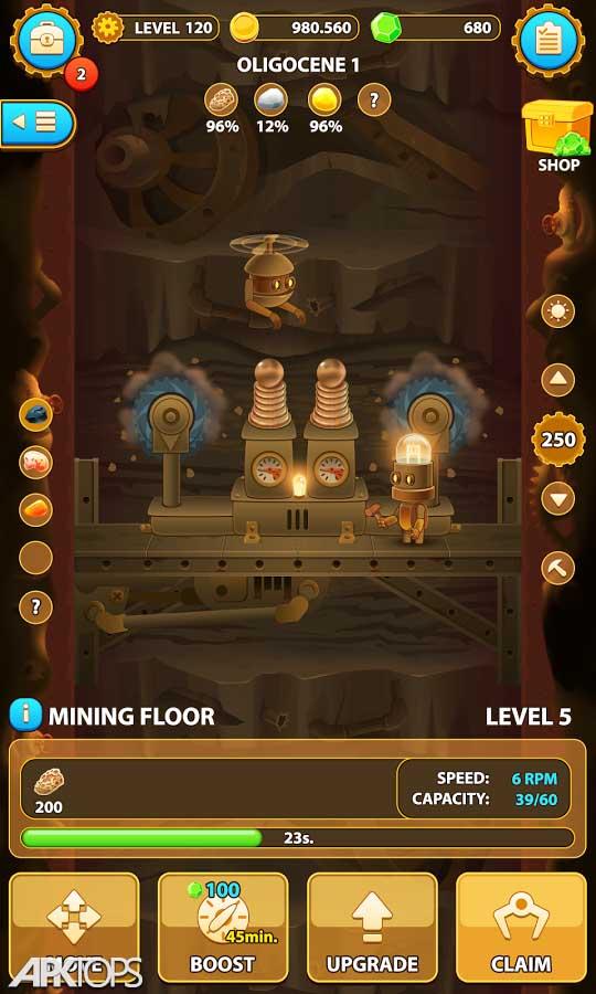 Deep Town: Mining Factory v4.1.1 دانلود بازی شهر عمیق: کارخانه معدن + مود اندروید