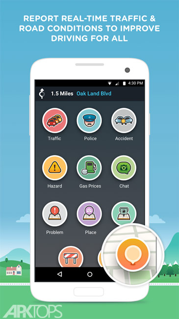 Waze GPS Navigation v4.46.0.2 دانلود ویز نرم افزار مسیریاب