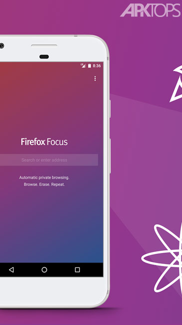 Firefox Focus The privacy browser v7.0.8 دانلود مرورگر ایمن فایرفاکس فوکوس