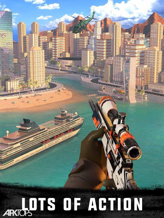 Sniper 3D Gun Shooter v3.0.4 دانلود بازی تک تیرانداز سه بعدی + مود اندروید