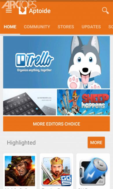 Aptoide Dev v9.0.0.20180517 دانلود برنامه مارکت خارجی اپتوید برای اندروید