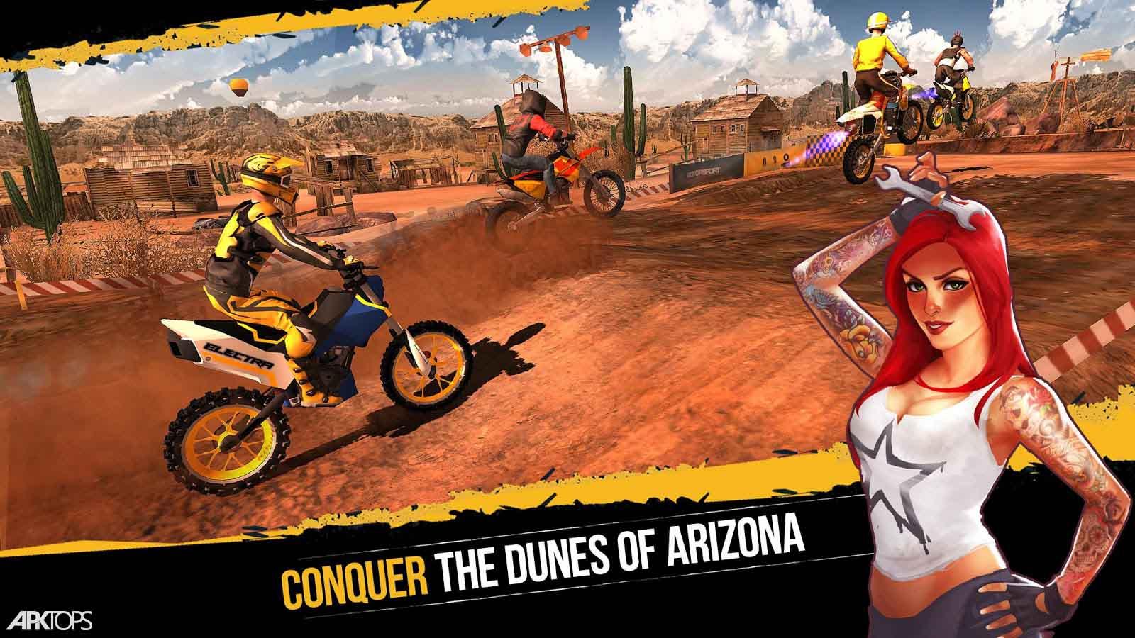 Dirt Xtreme v1.3.5 دانلود بازی موتور سواری در خاک برای اندروید