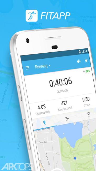 FITAPP Running Walking Fitness v5.21.3 دانلود جی پی اس و محاسبه فاصله و سرعت برای اندروید