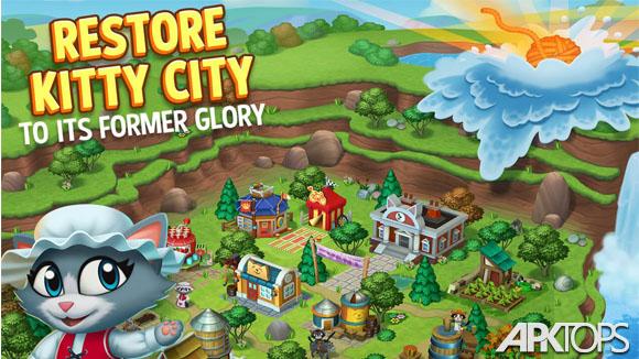 دانلود Kitty City: Help Cute Cats Build & Harvest Crops