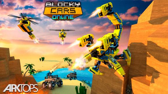 دانلود Blocky Cars - Online Shooting Game