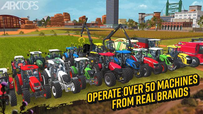 Farming Simulator 18 v1.4.0.6 دانلود بازی شبیه ساز کشاورزی 18 برای اندروید