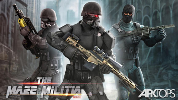 دانلود MazeMilitia: LAN, Online Multiplayer Shooting Game
