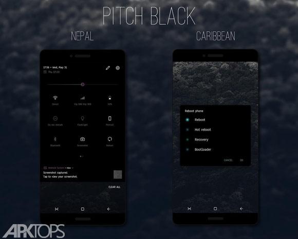 PitchBlack│Nougat/Oreo/Pixel 8.0 Substratum Theme