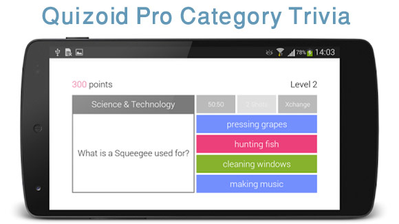 Quizoid Pro Category Trivia