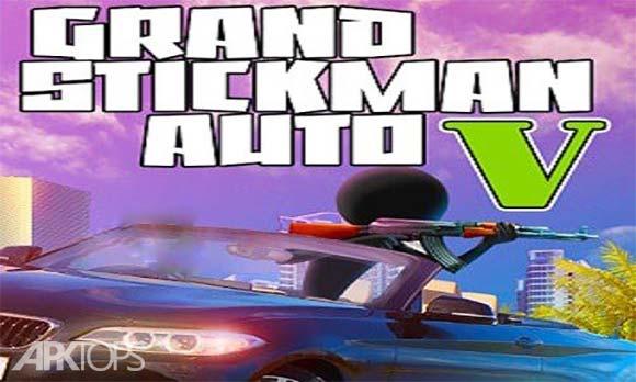 Grand Stickman Auto V دانلود بازی جی تی ای استیکمن برای اندروید
