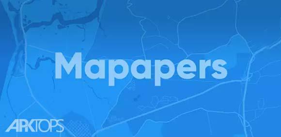 Mapapers دانلود مپ پیپرز برنامه ساخت تصویر پس زمینه از نقشه اندروید
