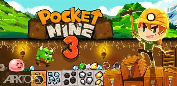Pocket Mine 3 v4.1.1 دانلود بازی جیبی معدنچی گنج 3
