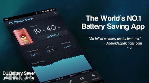 DU Battery Saver PRO & Widgets دانلود دی یو باتری سیور برنامه بهینه سازی باتری اندروید