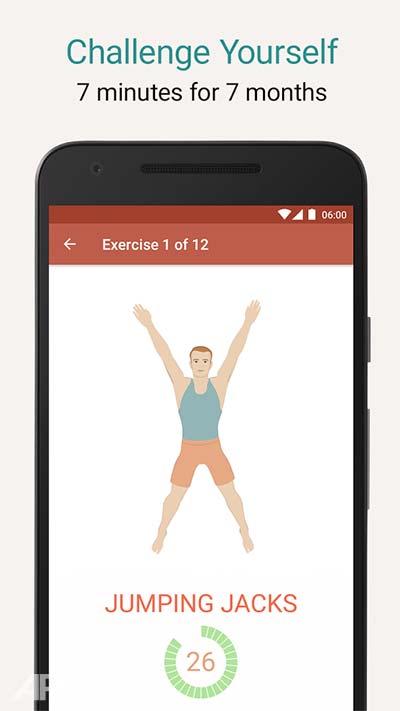 Seven 7 Minute Workout v8.2.7 تمرینات ورزشی در 7 دقیقه اندروید