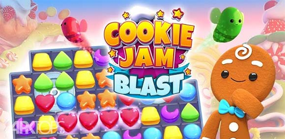 Cookie Jam Blast Match & Crush Puzzle دانلود بازی پازلی انفجار کلوچه ها برای اندروید