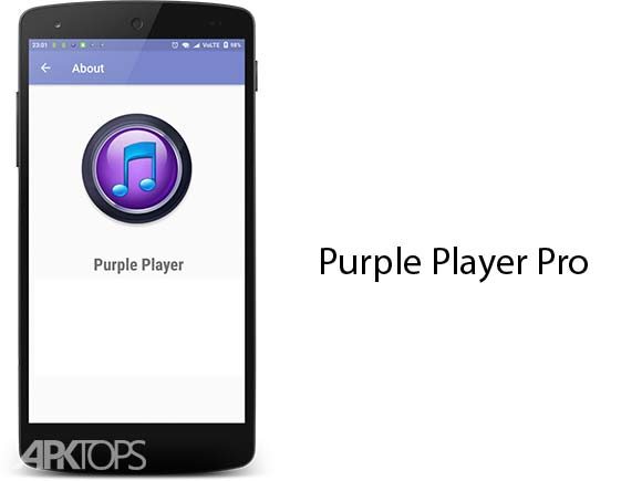 Purple Player Pro Music Player App دانلود پرپل پلیر اندروید