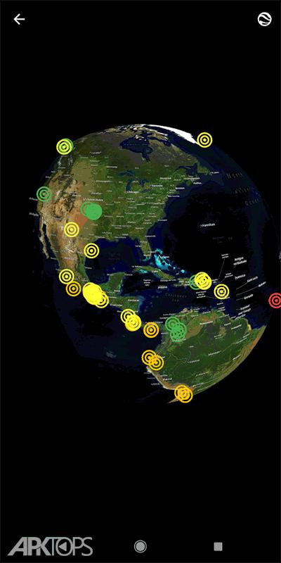 EarthQuake PRO v9.0.1 دانلود برنامه مانتیور زمین لرزه ها
