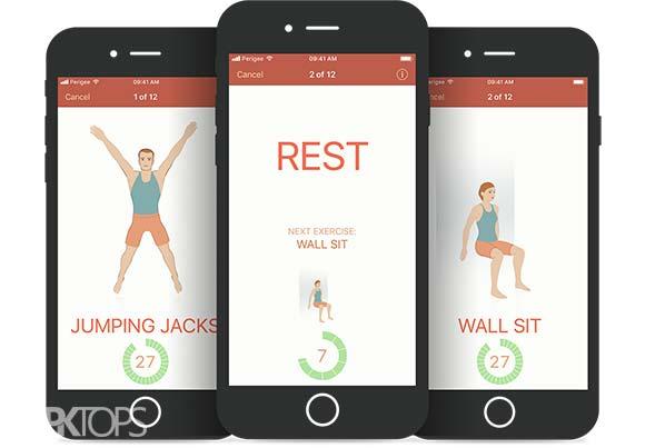 Seven 7 Minute Workout Training Challenge دانلود برنامه انجام تمرینات ورزشی اندروید