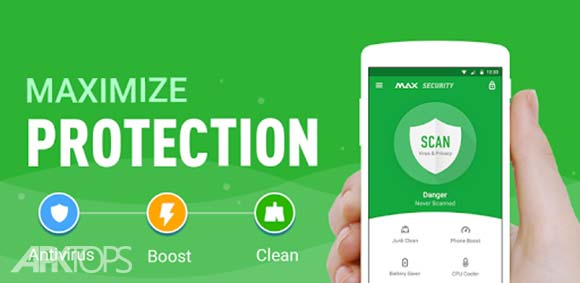 MAX Security Antivirus Booster دانلود مکس سکیوریتی برنامه همه کاره افزایش سرعت اندروید