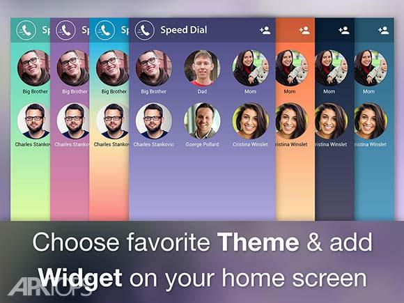Speed Dial Widget دانلود برنامه ایجاد ویجت مخاطبین اندروید