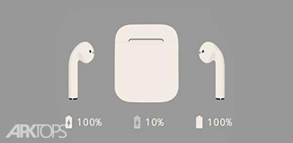 AirBtts دانلود ایربیتز برنامه نمایش مقدار شارژ ایرپادهای اپل اندروید