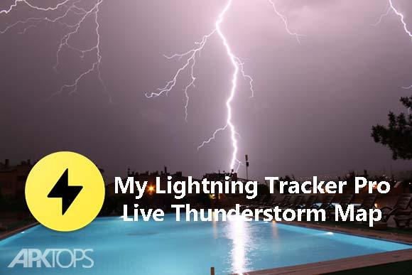 My Lightning Tracker Pro Live Thunderstorm Map دانلود برنامه نمایش زنده رعد و برق