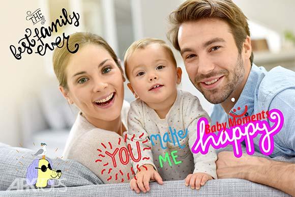 Baby Moments pregnancy & baby photos برنامه ویرایش تصاویر کودکان اندروید