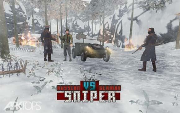 American vs Japanese Sniper دانلود بازی تک تیرانداز امریکایی در مقابل ژاپنی برای اندروید