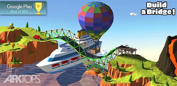 Build a Bridge! v2.0.12 دانلود بازی فکری پل سازی حرفه ای