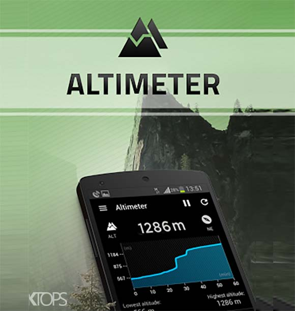 Altimeter دانلود برنامه اندازه گیری ارتفاع اندروید