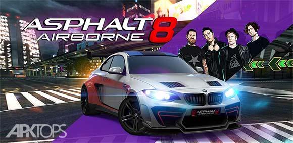 Asphalt 8 Airborne v3.5.0j دانلود بازی آسفالت 8 + مود + آفلاین