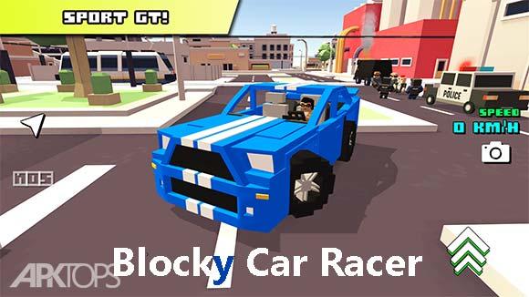 Blocky Car Racer دانلود بازی جذاب مسابقه ی ماشین های بلوکی