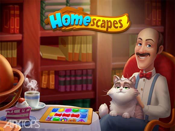 Homescapes دانلود بازی خانه ها برای اندروید