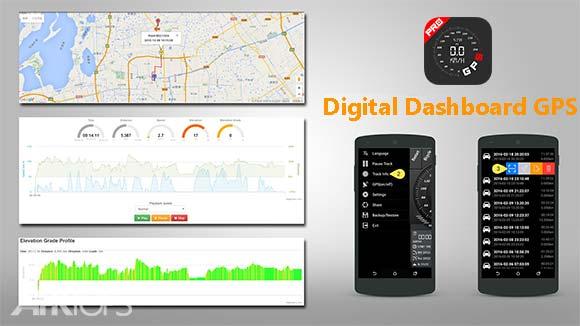 Digital Dashboard GPS Pro دانلود برنامه نمایش سرعت و ذخیره مکان اندروید