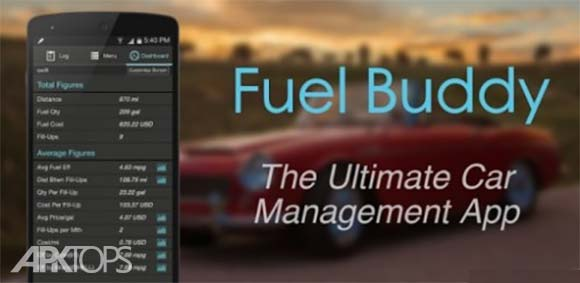 Fuel Buddy Car Management Mileage & Fuel Log <strong><a title='دانلود' href=
