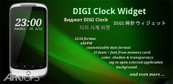 DIGI Clock Widget Plus دانلود برنامه ویجت ساعت دیجیتال اندروید