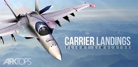 Carrier Landings Pro v4.2.1 دانلود بازی شبیه ساز فرود جت