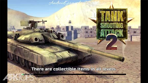 Tank Shooting Attack 2 دانلود بازی نبرد تانک ها برای اندروید