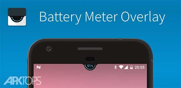 Battery Meter Overlay دانلود برنامه نمایش درصد باتری روی صفحه