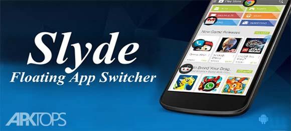 Slyde Floating App Switcher دانلود برنامه نمایش شناور برنامه های مورد علاقه روی صفحه