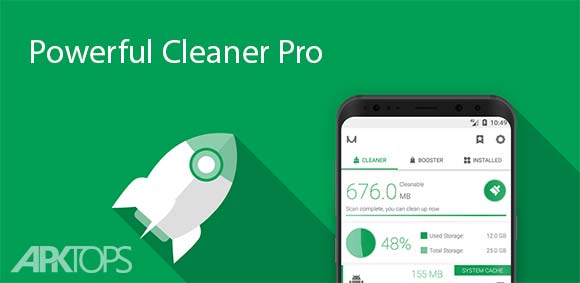 Powerful Cleaner Pro دانلود برنامه قدرتمند و زیبای پاکسازی گوشی